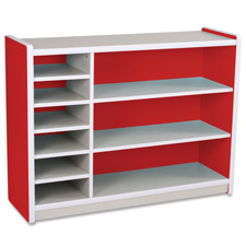 Balt Brite Kids Red 3 Level Cubby Storage