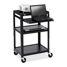 Bretford Adjustable Projector Cart w/ Notebk Shelf