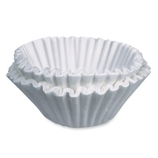 Coffee filters, f/ commercial brewer, 250/pk, white, sold as 1 package, 200 each per package