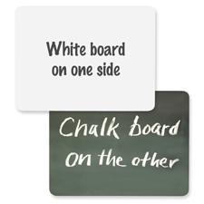 "White board/chalkboard combo, 1/4""x9""x12"", white/green, sold as 1 each"
