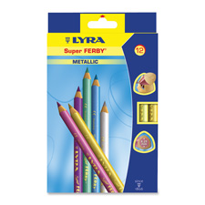 Dixon Super Ferby Metallic Colored Pencils