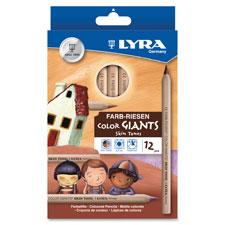 Color pencils,hexagon, 6.25mm core,12/st,skin tones, sold as 1 set, 3 each per set