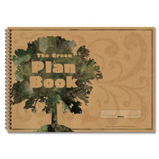 "Green plan book, 96 pages, 9-1/4""x13, sold as 1 each"