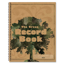 Green record book, 96 pages, 8-1/2x11, sold as 1 each