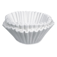Coffee filters, 12 cup coffeemaker, 200/pk, white, sold as 1 package