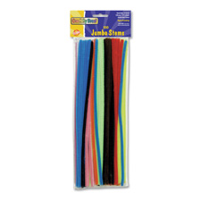 Chenille Kraft Jumbo Assorted Chenille Stems