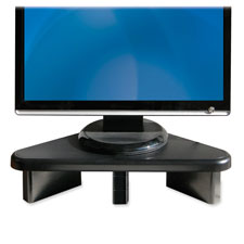 "Corner monitor stand, adjust,12-3/4""x20-1/4""x2-3/64"", black, sold as 1 each"