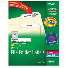 Avery TrueBlock Tech. Lsr/Inkjt File Folder Labels