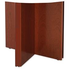 Rudnick Wood Veneer Series Mahogany X-shaped Base