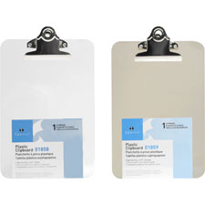 Sparco Transparent Molded Plastic Clipboards
