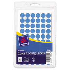 Avery Round Color-coding Lt. Blue Removable Labels