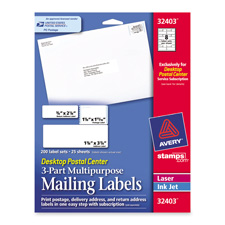 Avery 3-Part Mailing and Postage Labels