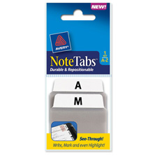 Avery A-Z Durable & Repostionable Notetabs