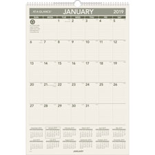 At-A-Glance 1PPM Recycled Wall Calendar