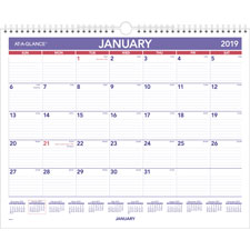 At-A-Glance 1PPM Recycled Monthly Wall Calendar