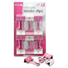 Officemate Breast Cancer Awareness Binder Clips