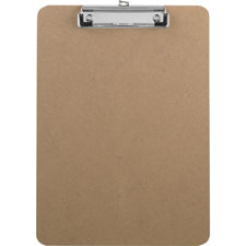 "Clipboard,w/flat clip/rubber grips,9""x12-1/2"",brown, sold as 1 each"