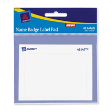 Avery White Name Badge Labels