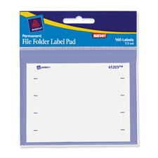 Avery File Folder Assorted Label Pads