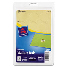 Avery Metallic Mailing Seals