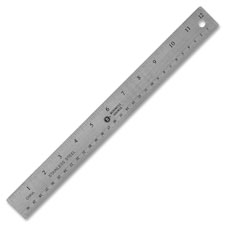 Bus. Source Nonskid Stainless Steel Ruler