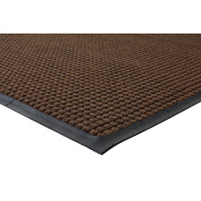 Indoor/outdoor mat, waterguard, rubber back,3'x5', brown, sold as 1 each