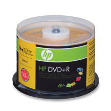 HP 4.7GB 16X DVD+R Spindle