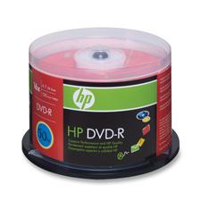 HP 4.7GB 16X DVD-R Spindles