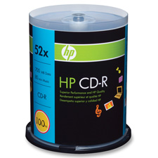 HP 700MB 52X CD-R Spindle