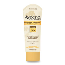 Johnson Aveeno Continuous Protection Sunblk Lotion