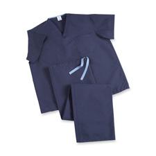 Medline Ind. Dark Blue V-Neck Scrub Shirt