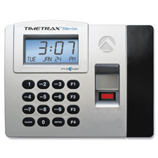Time/clock system, biometric, backup memory, gray/black, sold as 1 each