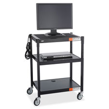 Safco Adjustable-height Steel Audio Cart
