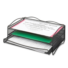 Safco Onyx B-Size Two-Tier Desk Organizers