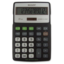 Sharp Semi-desk 3- Key Memory Recycled Calculator