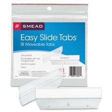 Smead Easy Slide Heavy-duty Plastic Tabs