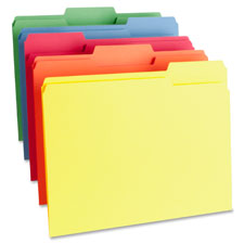 Bus. Source 1-Ply Color-coding File Folders