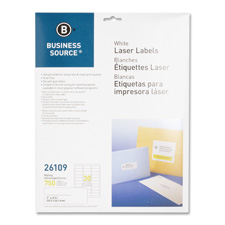 "Mailing labels, laser, 1""x2-5/8"", 750/pk, white, sold as 1 package, 8000 each per package"
