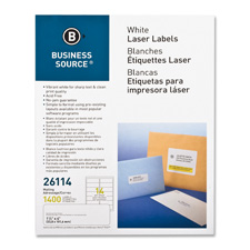 "Mailing labels, laser, 1-1/3""x4"", 1400/pk, white, sold as 1 package, 5000 each per package"