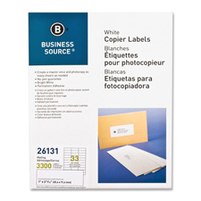 "Mailing labels, 1""x2-3/4"", 3300/pk, white, sold as 1 package, 600 each per package"