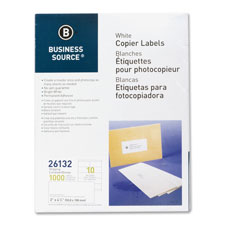 "Shipping labels, 2""x4-1/4"", 1000/pk, white, sold as 1 package, 3300 each per package"