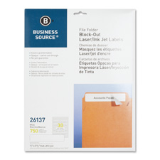 "File fldr labels,block-out,lsr/inkjet,750/pk,2/3""x3-7/16,we, sold as 1 package, 100 each per package"