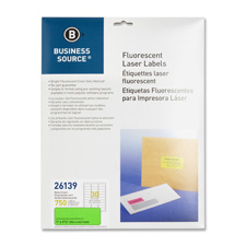 """Laser labels, fluorescent, 1""""x2-5/8"""", 750/pk, neon pink, sold as 1 package, 750 each per package"""