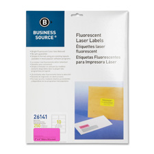 """Laser labels, fluorescent, 2""""x4"""", 250/pk, neon yellow, sold as 1 package, 250 each per package"""