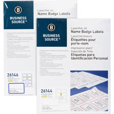 """Name badge labels, 2-1/3""""x3-3/8"""", 400/pk, plain white, sold as 1 package, 250 each per package"""