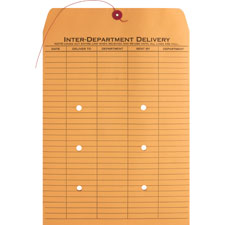 "Inter-dept.envelopes, str/button close,10""x13"",100/ct,kraft, sold as 1 box, 500 each per box"