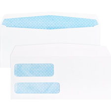 "Double window envelopes,no. 9,3-7/8""x8-7/8"",500/bx,white, sold as 1 box"