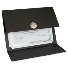 First Base Linen Black Certificate Holder
