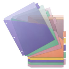 "Poly index dividers, double pocket, 8-tab, 8-1/2""x11"", multi, sold as 1 set"
