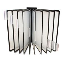 Extension wall rack,f/ catalog racks,10 panels,black, sold as 1 each
